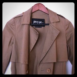 Nasty Gal trench coat.